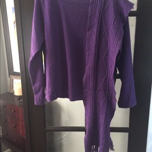 Purple Sweater with Matching Scarf!
